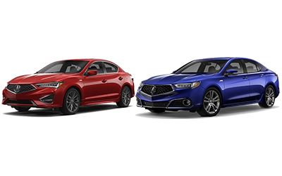 new 2020 Acura ILX vs TLX comparison features specs