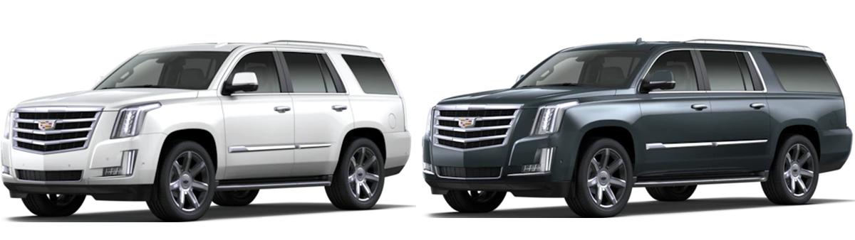 comparison 2020 Cadillac Escalade vs Escalade ESV Houston TX