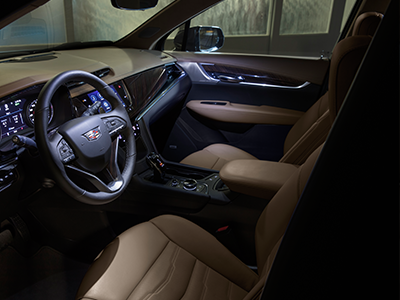seating features of the cadillac xt6