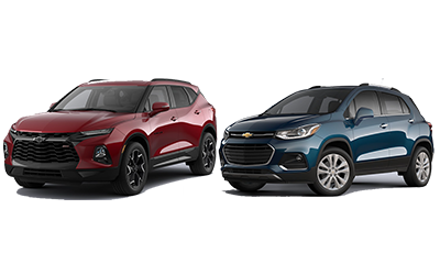 new 2020 Chevy Blazer vs Trax comparison features specs