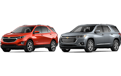 new 2020 Chevy Traverse vs Equinox comparison features specs