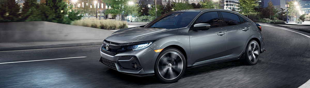 seating capacity & trim levels of the honda civic hatchback