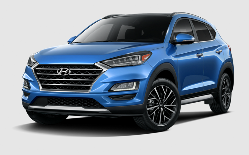 aqua blue hyundai tucson houston tx