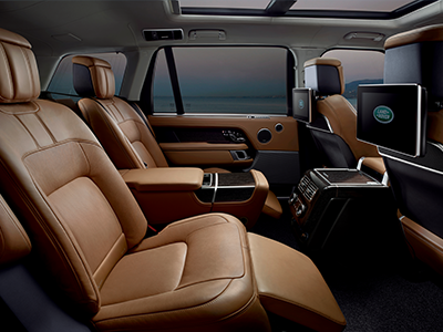 seating highlights of the range rover