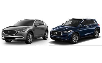 new 2020 Mazda CX-5 vs Infiniti QX50 comparison features specs