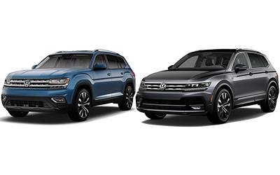 new 2020 Volkswagen Atlas vs Tiguan comparison features specs